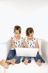 Girls on computer